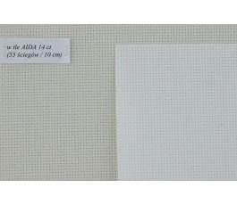 AIDA  14ct (10x14 cm) kolor: 100 - biały
