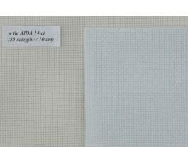 AIDA  14ct (10x14 cm) kolor: 5169 - niebieski opalizujący