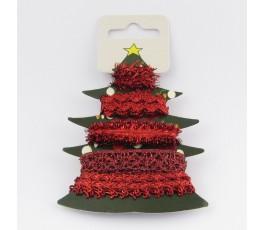 Zestaw czerwonych wstążek Christmas Tree 4 x 1 m
