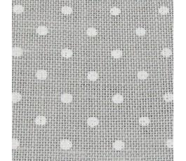 PETIT POINT BELFAST 32 ct (50 x 70 cm) kolor: 7349 - szary w białe kropki