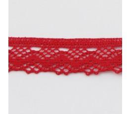 Koronka 2,5 cm, 9 - czerwony (7246 Zweigart)