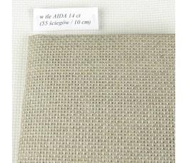 AIDA 14 ct-Linen(50 x 70 cm) kolor: 53 - naturalny