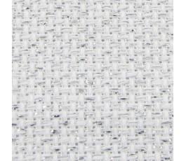 AIDA 18 ct (35 x 42 cm) kolor: 17 - biały ze srebrem