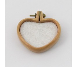 Ramka serce 40x32mm, wiśnia, mosiądz