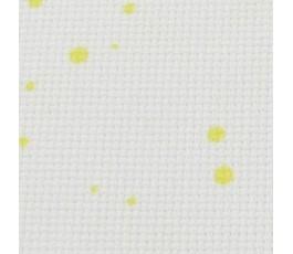 SPLASH AIDA 18 ct (35 x 42cm) kolor : 1349 - biały w żółte krople