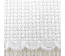 Taśma aidowa szer. 10 cm biała z krawędzią białą - 1