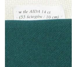 LUGANA 25 ct (35 x 35 cm) kolor 647 - zielony