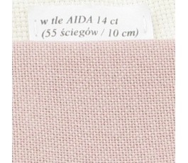 LUGANA 25 ct (35 x 35 cm) kolor 403 - stary róż