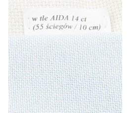 LUGANA 25 ct (35 x 35 cm) kolor 550 - jasny błękit