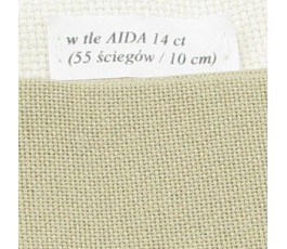 LUGANA 25 ct (35 x 35 cm) kolor 323 - jasny khaki