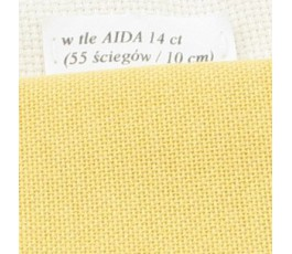 LUGANA 25 ct (35 x 35 cm) kolor 205 - żółtopomarańczowy