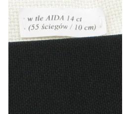 LUGANA 25 ct (35 x 35 cm) kolor 720 - czarny