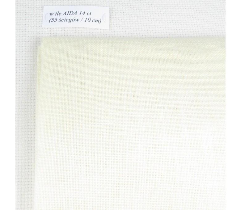 Len 28 ct (50 x 70 cm) kolor:333 - beżowy