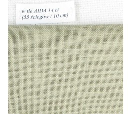 BELFAST 32 ct (50 x 70 cm) kolor: 323 - khaki jasny