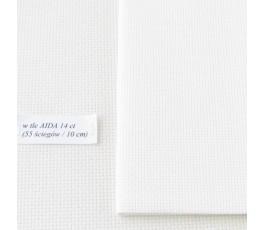 AIDA 16 ct z beli, kolor:...