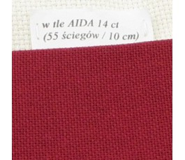 LUGANA 25 ct (35 x 35 cm) kolor 906 - bordowy