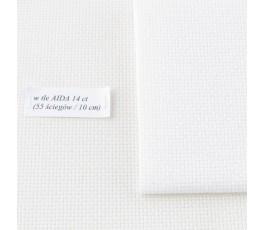 AIDA  14ct (10x14 cm) kolor 11 - biały opalizujący