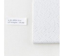 AIDA  14 ct (35x42 cm) kolor: 117 - biały ze srebrem