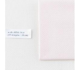 AIDA  14ct (35x42 cm) kolor:4110 - jasnoróżowy
