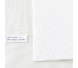 AIDA 16 ct ( 10x14 cm) kolor: 100 - biały