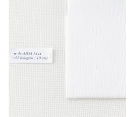 AIDA 18 ct ( 10x14 cm) kolor: 100 - biały