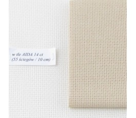 AIDA 16 ct ( 35x42 cm) kolor: 3740 - beżowy