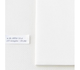 AIDA 16 ct ( 42 x 54 cm) kolor: 101 - kość słoniowa