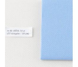 AIDA 16 ct ( 42 x 54 cm) kolor: 503 - błękitny