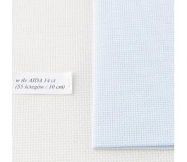 AIDA 16 ct ( 42 x 54 cm) kolor: 550 - szarobłękitny