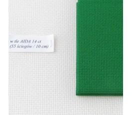 AIDA 18 ct ( 42 x 54 cm) kolor: 670 - świąteczna zieleń