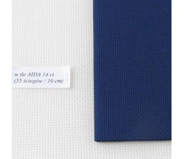 AIDA 18 ct ( 42 x 54 cm) kolor: 589 - granatowy