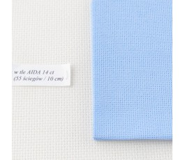 AIDA 18 ct ( 42 x 54 cm) kolor: 503 - błękitny