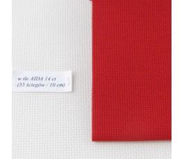 AIDA 16 ct ( 42 x 54 cm) kolor: 954 - czerwony