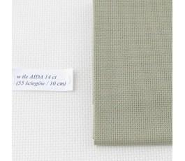 AIDA 18 ct ( 42 x 54 cm) kolor: 323 - khaki