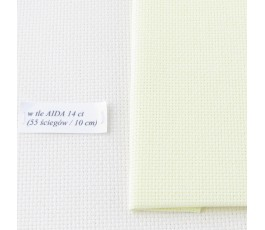 AIDA 16 ct ( 42 x 54 cm) kolor: 2030 - kremowy