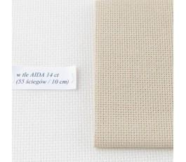 AIDA 16 ct ( 42 x 54 cm) kolor: 3740 - beżowy