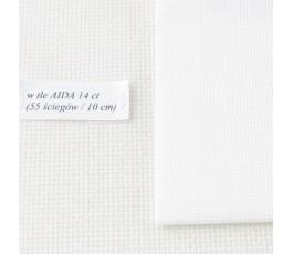 AIDA 20 ct (10x14 cm) kolor: 100 - biały