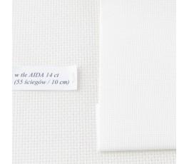 AIDA 20 ct (10x14 cm) kolor: 101 - kość słoniowa