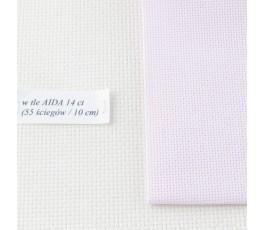 AIDA 20 ct ( 35x42 cm) kolor: 443 - jasnoróżowy