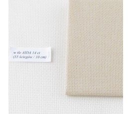 AIDA 18 ct ( 42 x 54 cm) kolor: 740 - beżowy