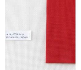 AIDA 18 ct ( 42 x 54 cm) kolor: 954 - czerwony