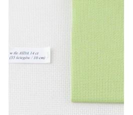 AIDA 18 ct ( 42 x 54 cm) kolor: 6140 - pistacjowy