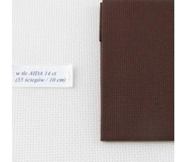 AIDA 18 ct ( 42 x 54 cm) kolor: 9024 - brązowy