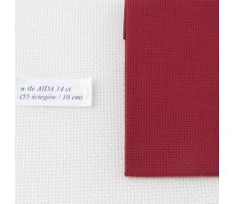 AIDA 18 ct ( 42 x 54 cm) kolor: 9060 - bordowy