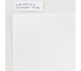 Kanwa plastikowa 14 CT 21 x 28 cm, kolor: biały