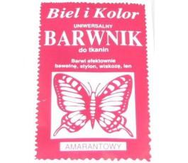 Barwnik do tkanin - kolor: amarantowy