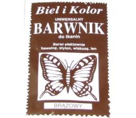 Barwnik do tkanin - kolor: brązowy