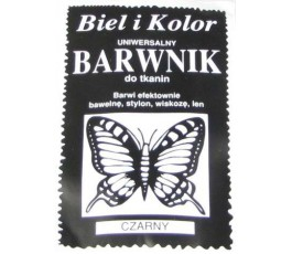 Barwnik do tkanin - kolor: czarny