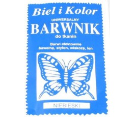 Barwnik do tkanin - kolor: niebieski