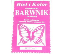 Barwnik do tkanin - kolor: różowy